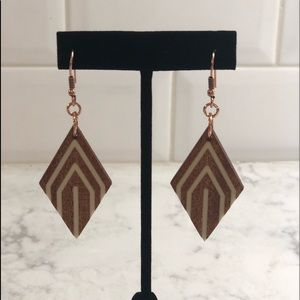 Hand crafted wooden earrings!